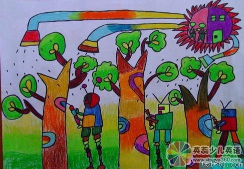 儿童科幻画获奖作品欣赏